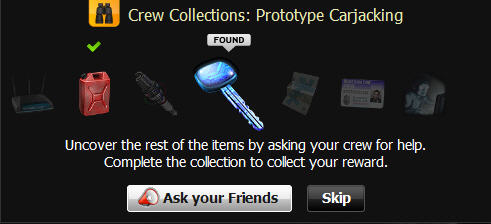 mafia wars crew collections ask friends for help