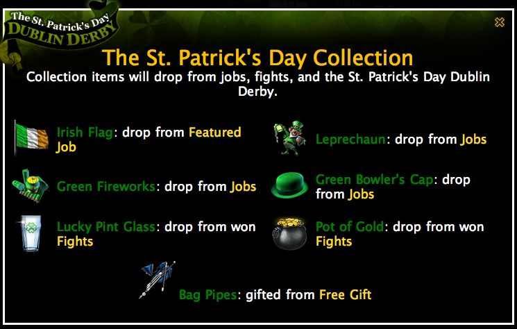 mafia wars limited edition st. patrick's day collection