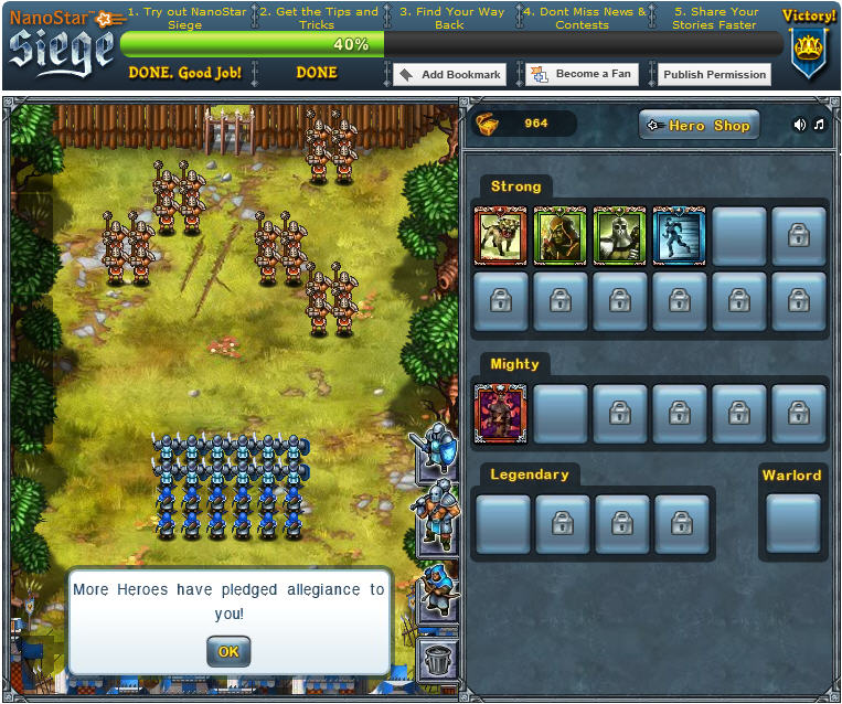 nanostar siege tower defense game launches on Facebook