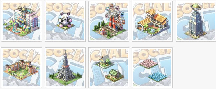social city introduces new gifts and buildings