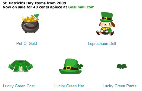 Gosumall sale of Pet Society items