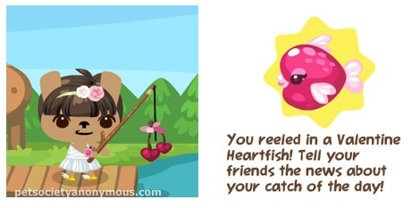 Pet Society Valentine Heartfish