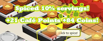 Earn Points for Spicing Dishes in Cafe World