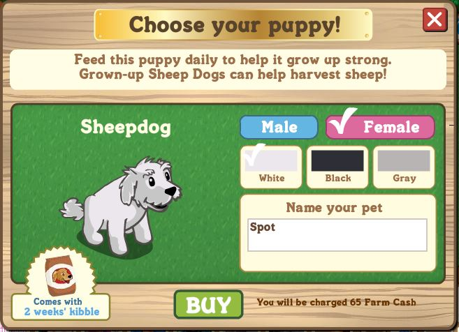 farmville sheepdog puppy