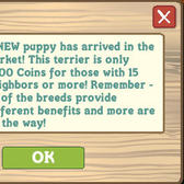 FarmVille Terrier puppy now available for a mere 5,000 coins