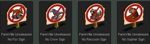 FarmVille No Animals Signs