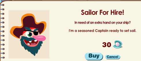 Captain for Hire - 30 Pearls