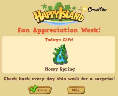 Happy Island Mossy Spring Fan Appreciation Week Gift