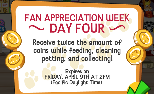 Happy Pets Double Coins Fan Appreciation Day 4