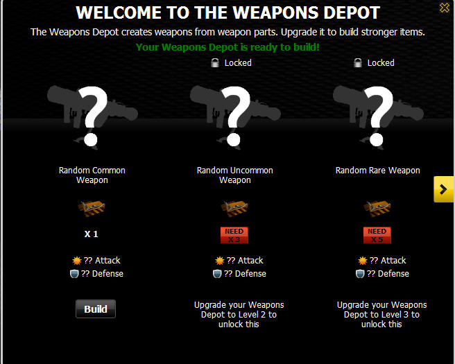 mafia wars weapons depot ready to build