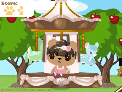 Pet Society Fawns Merry Go-Round