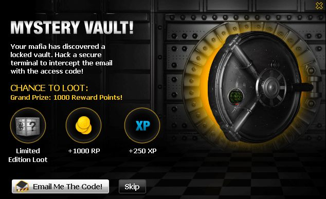 Mafia Wars Mystery Vault