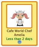 petville cafe world collectibles - cafe world chef amelia