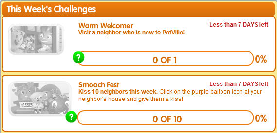 petville new challenges have been released for this week.