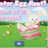 PetVille Easter Egg Scavenger Hunt mini-game -- it's got collectible eggs and mystery prizes, too