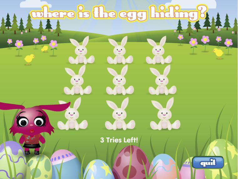 Petville mini-game -- where is the egg hiding?