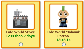 Cafe World Stove and Mohawk Patron