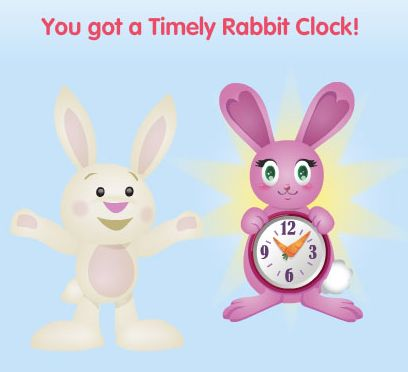 Timely Rabbit Clock