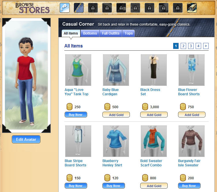 treasure quest browse stores