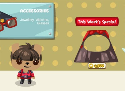 Volcano Mask This Week's Special in Pet Society