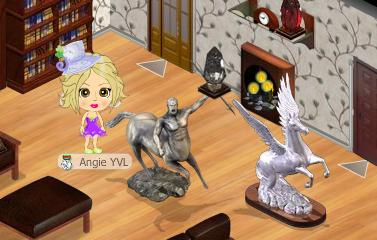 yoville enchanted pegasus and centaur statue
