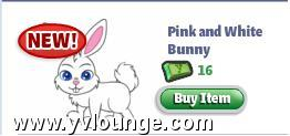 Pink and White Bunny in YoVille Store