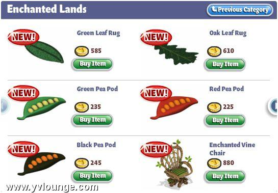 YoVille Enchanted Lands Furniture