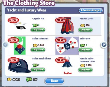 YoVille The Clothing Store