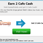 Cafe World: Earn 2 Free Cafe Cash from GamePoints.com