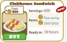 Clubhouse Sandwich Cafe World