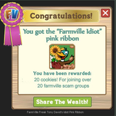 FarmVille Scam Groups and the only Reward for Joining