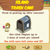 Happy Island: Trash Master 3000 grants a 1-click trash pick-up service