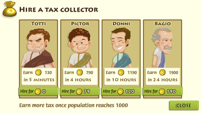 my empire tax collector