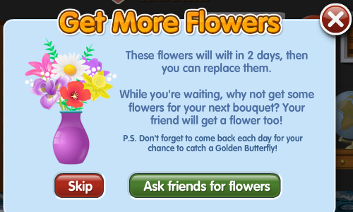 PetVille Get More Flowers