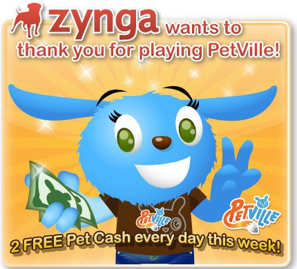 PetVille 2 Free Pet Cash