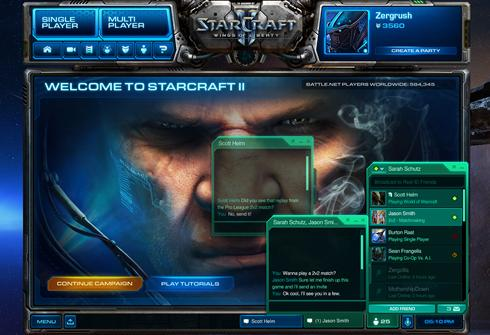 Starcraft II Facebook integration
