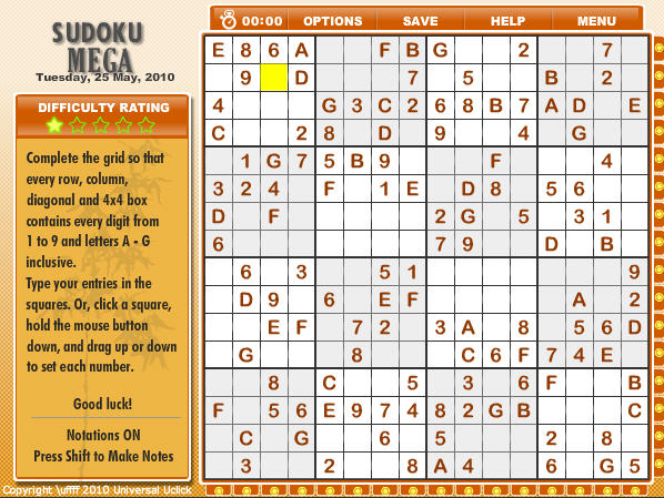 Game of the Day: Sudoku Mega - Games.com