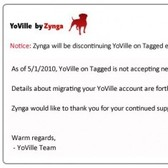 YoVille says 'so long' to Tagged starting May 15