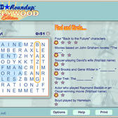 Game Of the Day: Word Round Up: Hollywood Edition