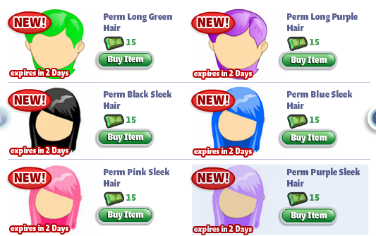 yoville permanent hairstyles