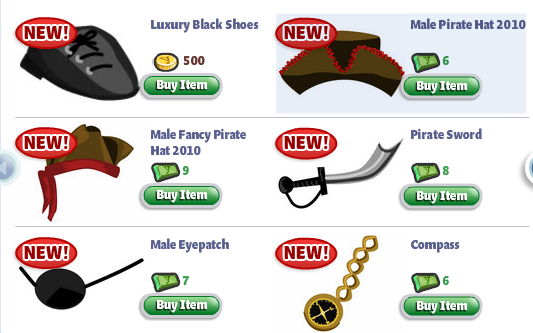 YoVille Pirate Costumes