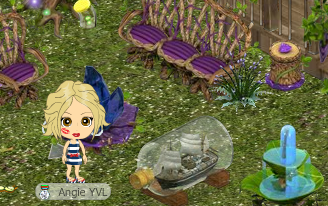 YoVille Ship in a Bottle