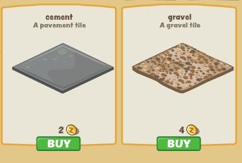 Zoo Paradise cement tile and gravel tile