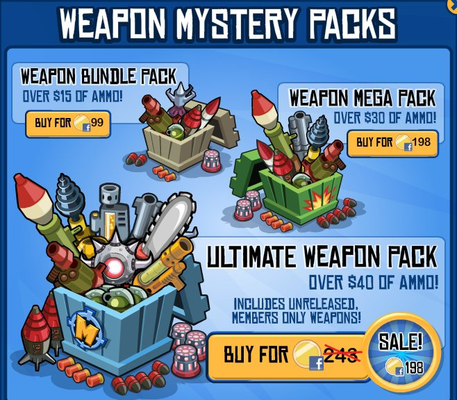 wild ones weapon mystery packs