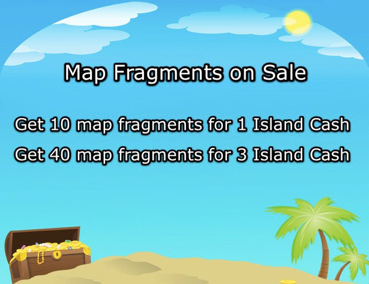 Treasure Isle map fragments sale