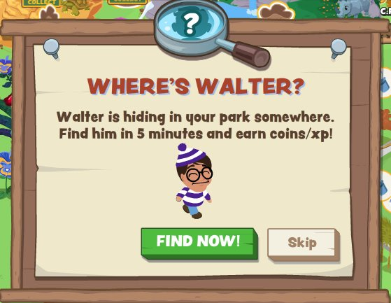 Zoo Paradise Where's Walter game