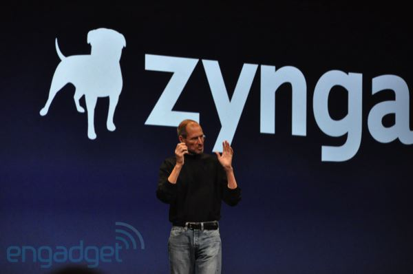 steve jobs intoduces mark pincus from zynga