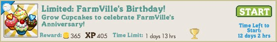 FarmVille birthday co-op job