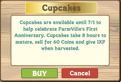 FarmVille cupcake crop