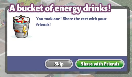 YoVille Bucketful of Energy feed